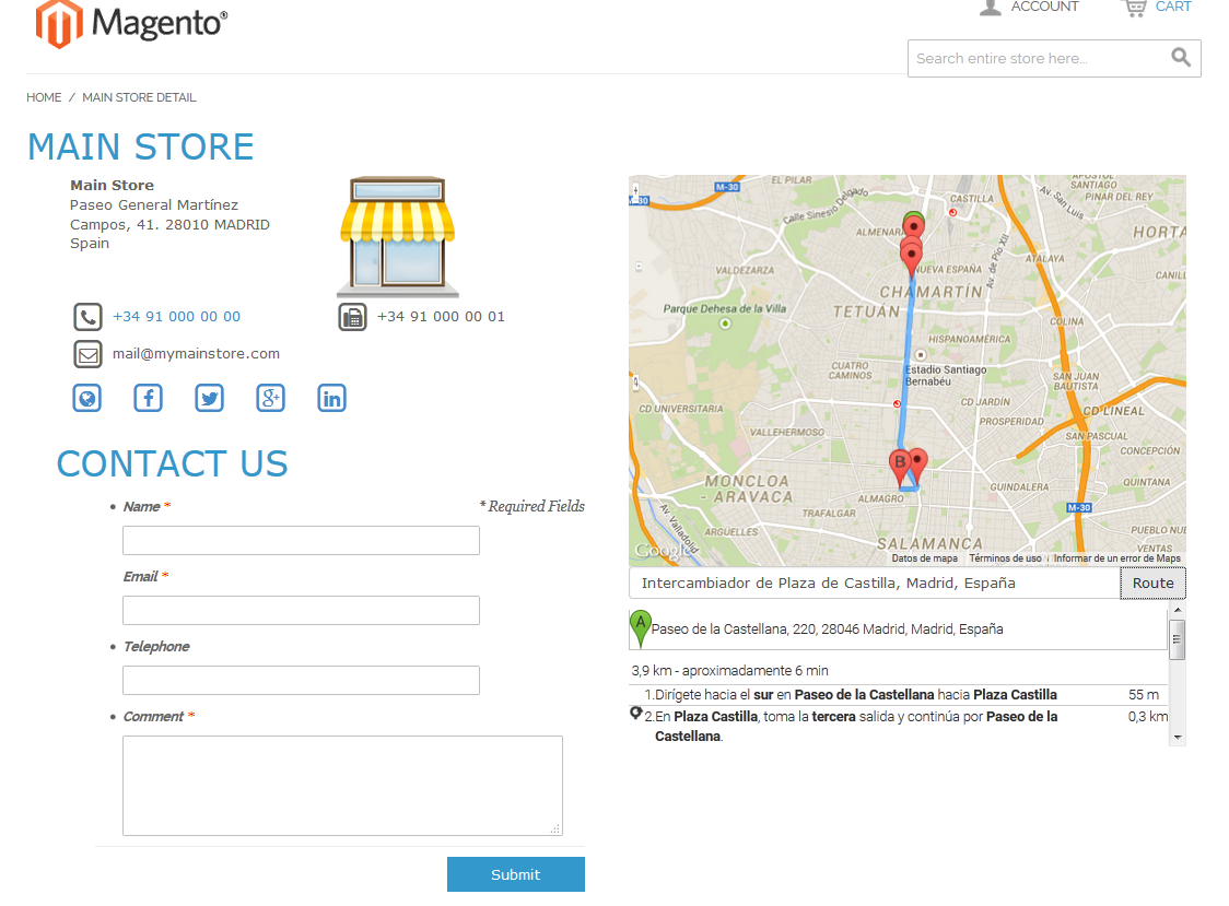 Infoshop screenshot
